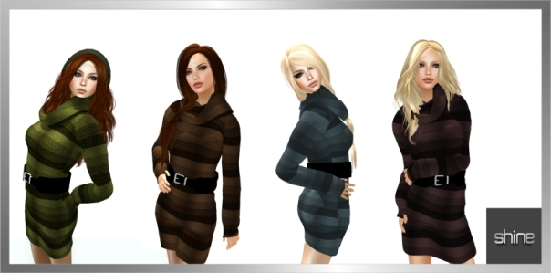 shine by [ZD] - Mesh - Rollneck Dress51
